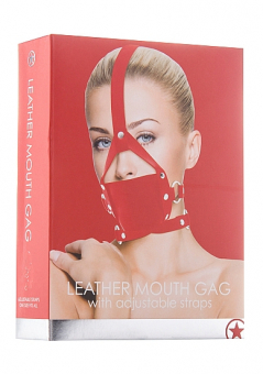 Кляп намордник Leather Mouth Black OUCH!