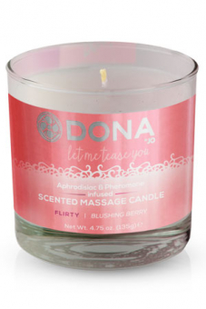 "Массажная свеча DONA ""Флирт"" Scented Massage Candle Flirty Aroma: Blushing Berry"