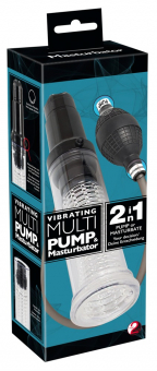 Вибропомпа + мастурбатор Vibrating Multi Pump & Masturbator