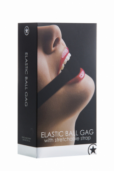 Кляп Elastic Ball OUCH! Black